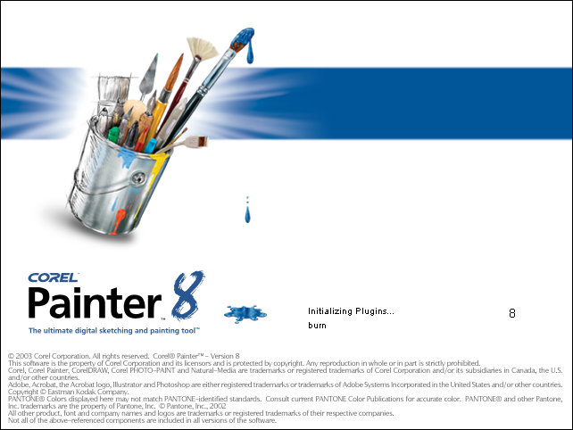 Splash in Corel Painter 8