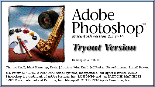 Splash in Adobe Photoshop 2.5