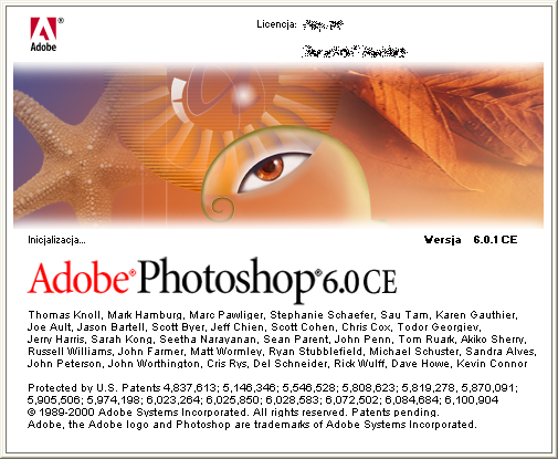 Splash in Adobe Photoshop 6.0