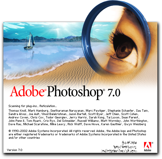 Splash in Adobe Photoshop 7.0