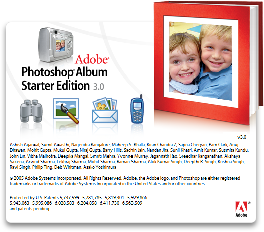 Splash in Adobe Photoshop Album 3.0