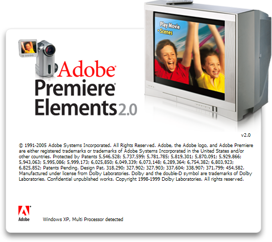 Splash in Adobe Premiere Elements 2.0