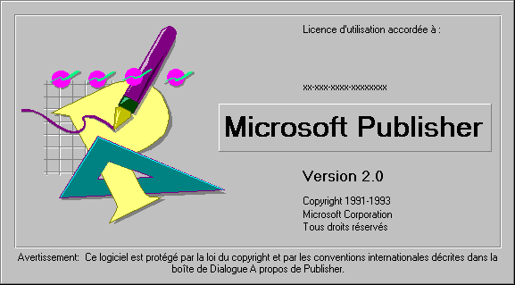 Splash in Microsoft Publisher 2.0
