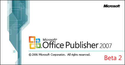 Splash in Microsoft Publisher 2007