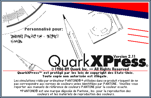 Splash in Quark XPress 2.0