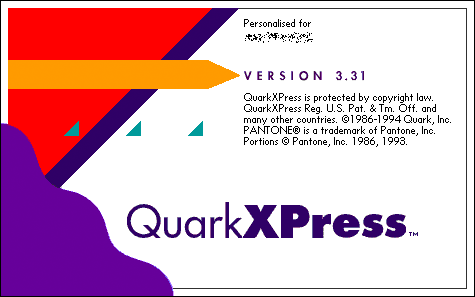 Splash in Quark XPress 3.0