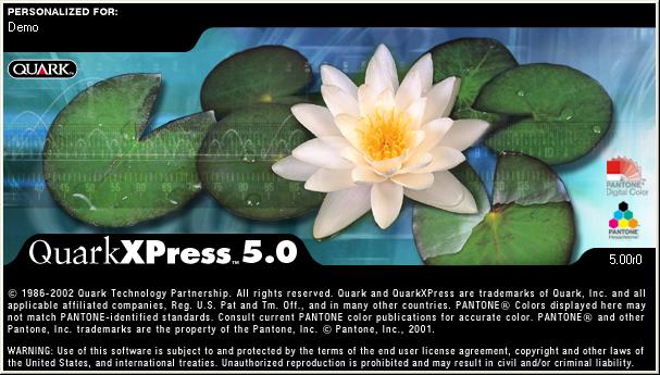 Интерфейс English (US). QuarkXPress 5.0 для Windows.