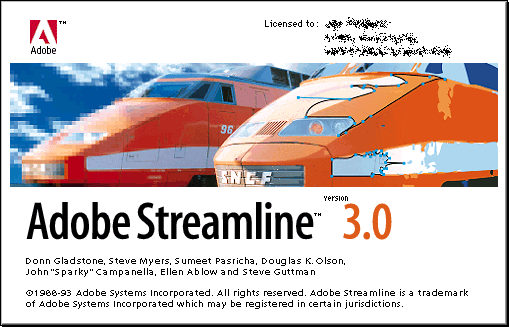 Splash in Adobe Streamline 3.0