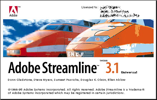 Splash in Adobe Streamline 3.1