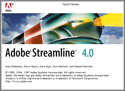 Splash in Adobe Streamline 4.0