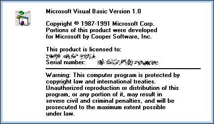 Splash in Visual Basic 1.0
