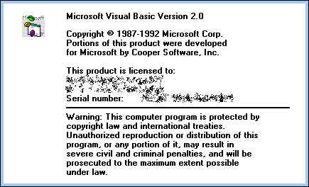 Splash in Visual Basic 2.0