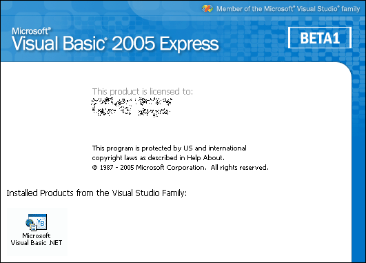 Splash in Visual Basic 2005 Express