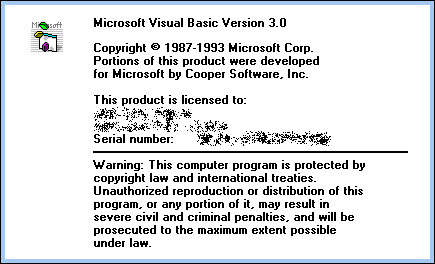 Splash in Visual Basic 3.0