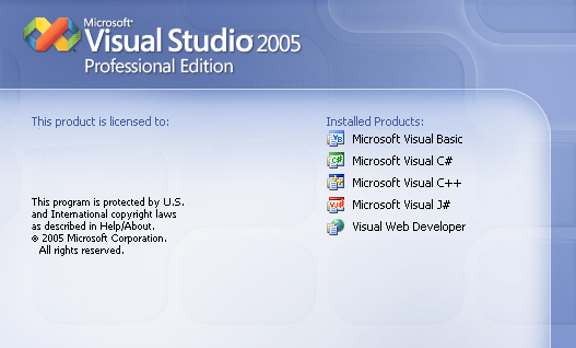 Splash in Visual Studio 2005
