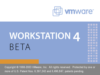 Splash in VMware Workstation 4 beta