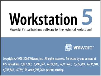 Splash in VMware Workstation 5
