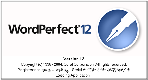 Splash in WordPerfect 12
