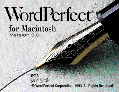 Splash in WordPerfect 3.0