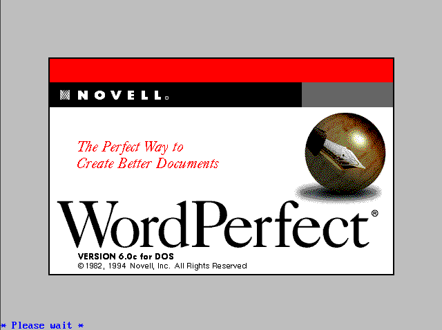Splash in WordPerfect 6.0