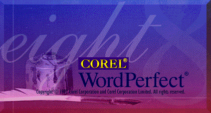 Splash in WordPerfect 8