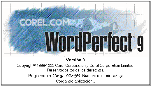 Splash in WordPerfect 9