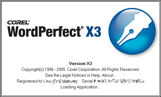 Splash in WordPerfect X3