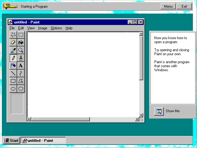 how to open paint in windows 8.1